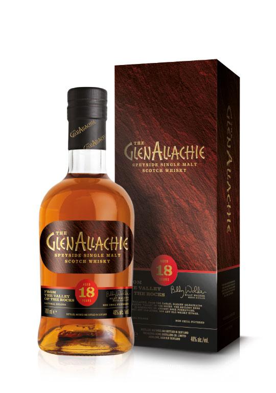 Produktfoto des 18-jährigen GlenAllachie Whisky
