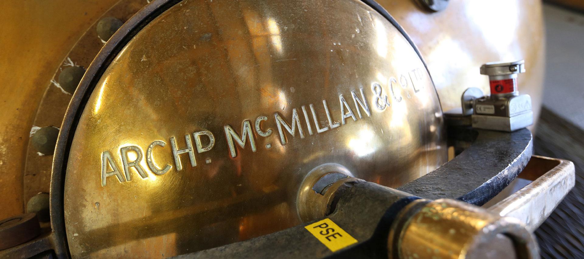 Nahaufnahme einer Brennblase in der GlenAllachie Distillery
