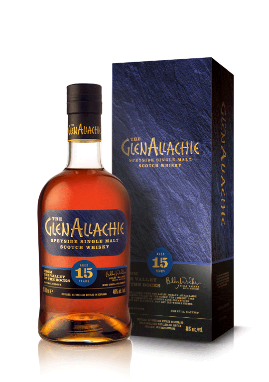 Produktfoto des GlenAllachie Whisky 15 years old.
